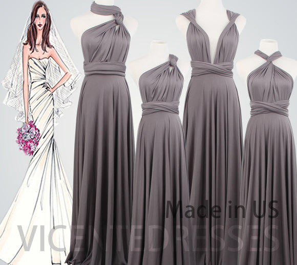 Mariage - Dark Grey Bridesmaid Dress Long,Bridesmaid Dress Long,Long Grey Dress,Any Occasion Dress,Grey Long Bridesmaid Dress,Gray Dress