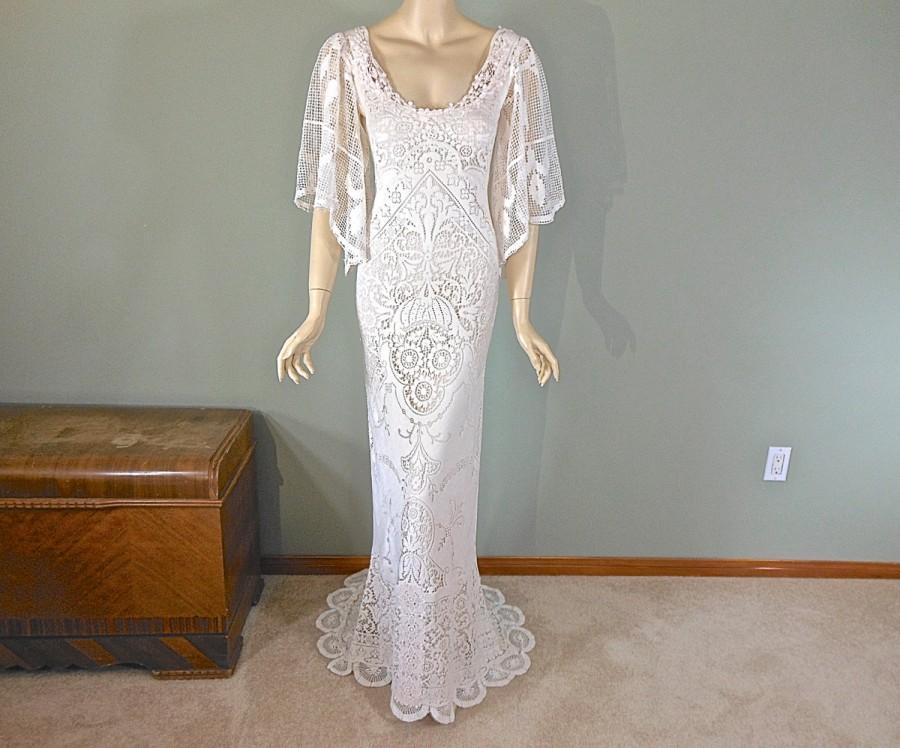 Sale 30 Off Romantic Boho Wedding Dress Bohemian Wedding