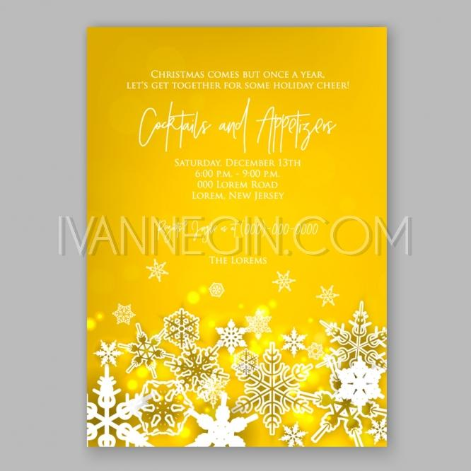 Mariage - Christmas Glowing Lights. Merry Christmas and Happy New Year Card Xmas Decorations. Blur Silver Snow - Unique vector illustrations, christmas cards, wedding invitations, images and photos by Ivan Negin
