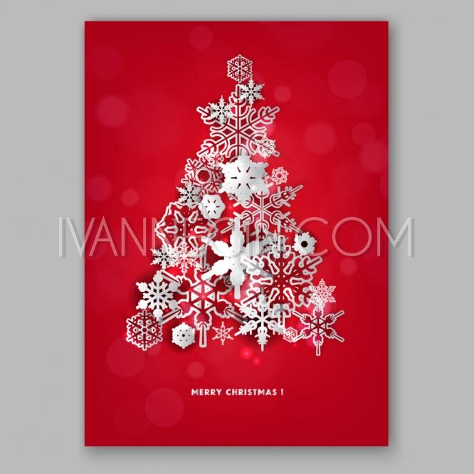 christmas glowing lights merry christmas and happy new year card xmas decorations snowflake unique vector illustrations christmas cards