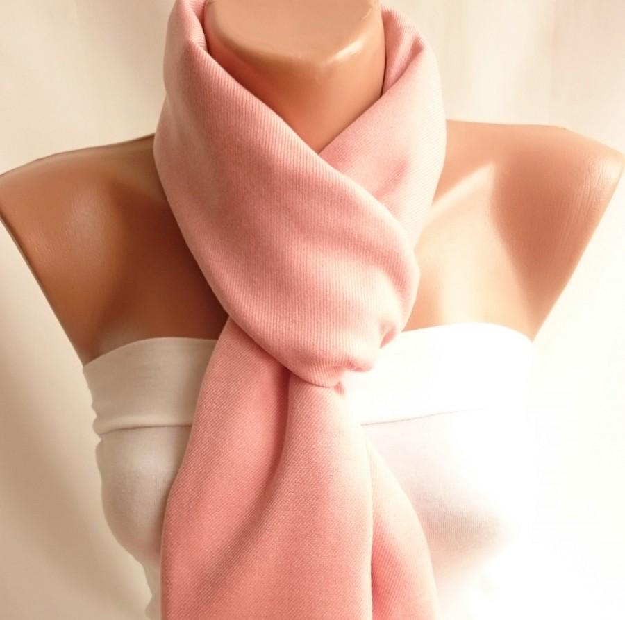 زفاف - Powder Pink Pashmina Shawl,Solid Shawl,Woman Accessories, Cotton Scarf,Wedding Shawl