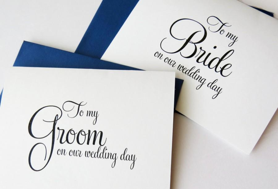 Gift To Husband On Wedding Day: To My Bride On Our Wedding Day, To My Groom On Our Wedding