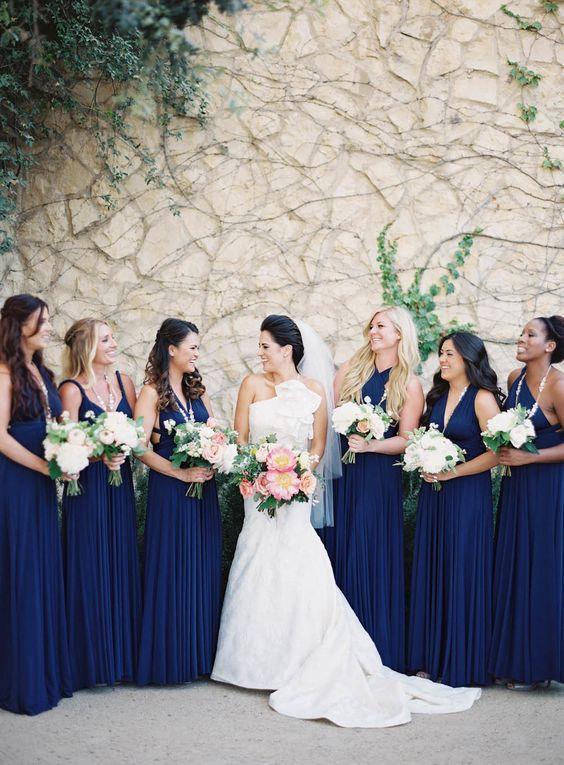 Royal Blue Infinity Dress Bridesmaids Light Convertible Wrap