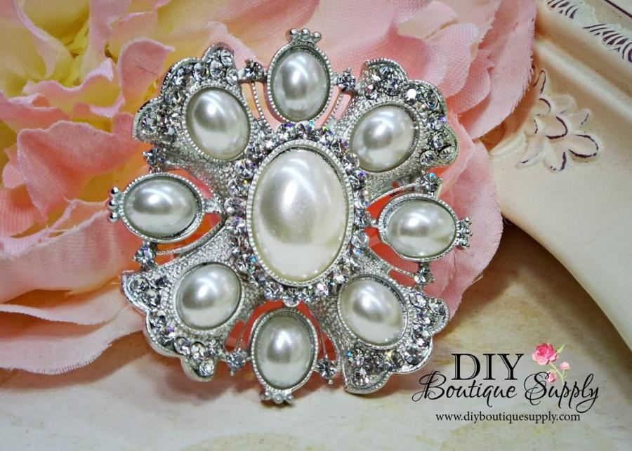VIntage Style Pearl Rhinestone Brooch DIY Wedding Brooch Bouquet