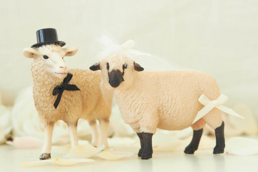 Sheep Wedding Cake Topper - Farm Wedding Cake Topper - Sheep Bride ...