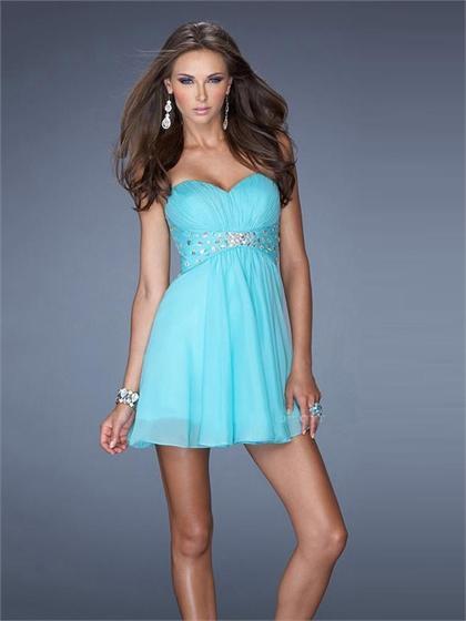 زفاف - Sweetheart Beadings Pleatings Empire Chiffon Prom Dress PD2506