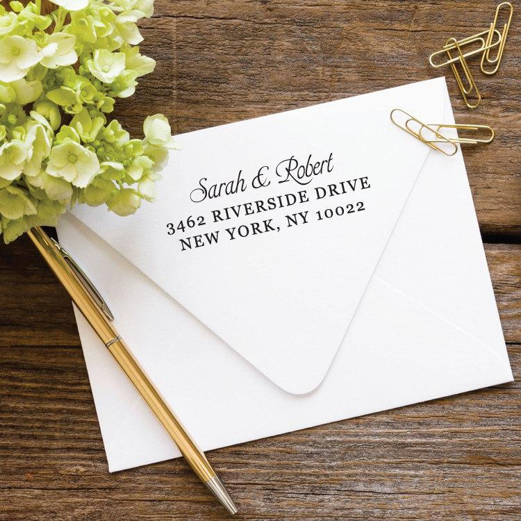 Свадьба - Wedding Address Stamp, Custom Stamp, Address Stamp, Return Address Stamp, Self Inking Stamp, Custom Address Stamp