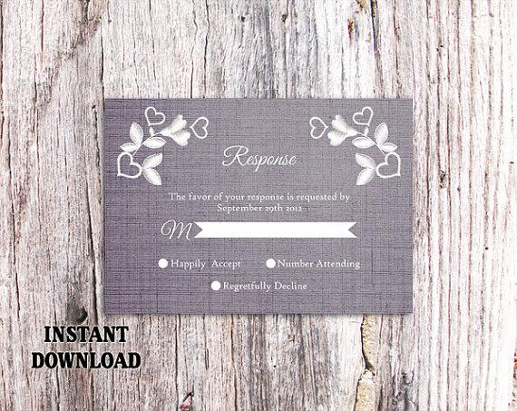 Mariage - DIY Lace Wedding RSVP Template Editable Word File Instant Download Blue Rsvp Template Printable Vintage Rsvp Floral RSVP Card Rustic Rsvp