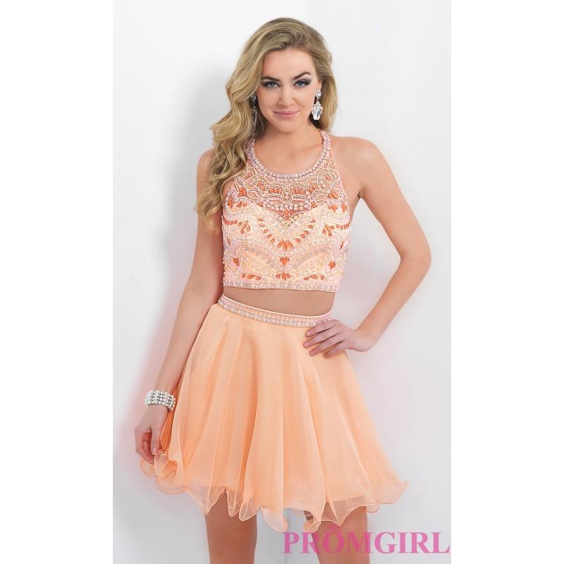 Свадьба - Two Piece Beaded Homecoming Dress by Blush - Discount Evening Dresses