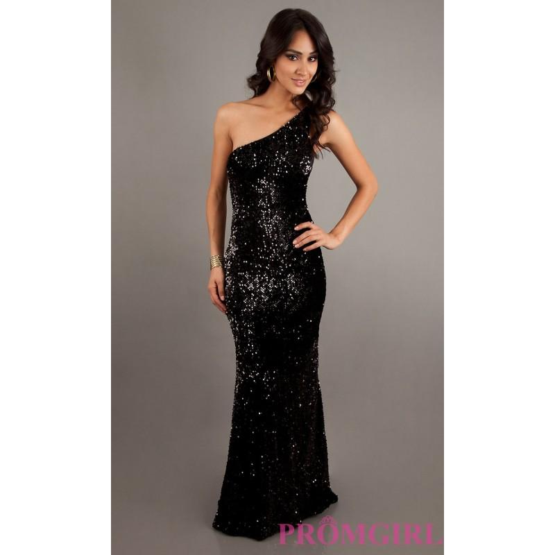 Düğün - One Shoulder Long Sequin Dress - Brand Prom Dresses
