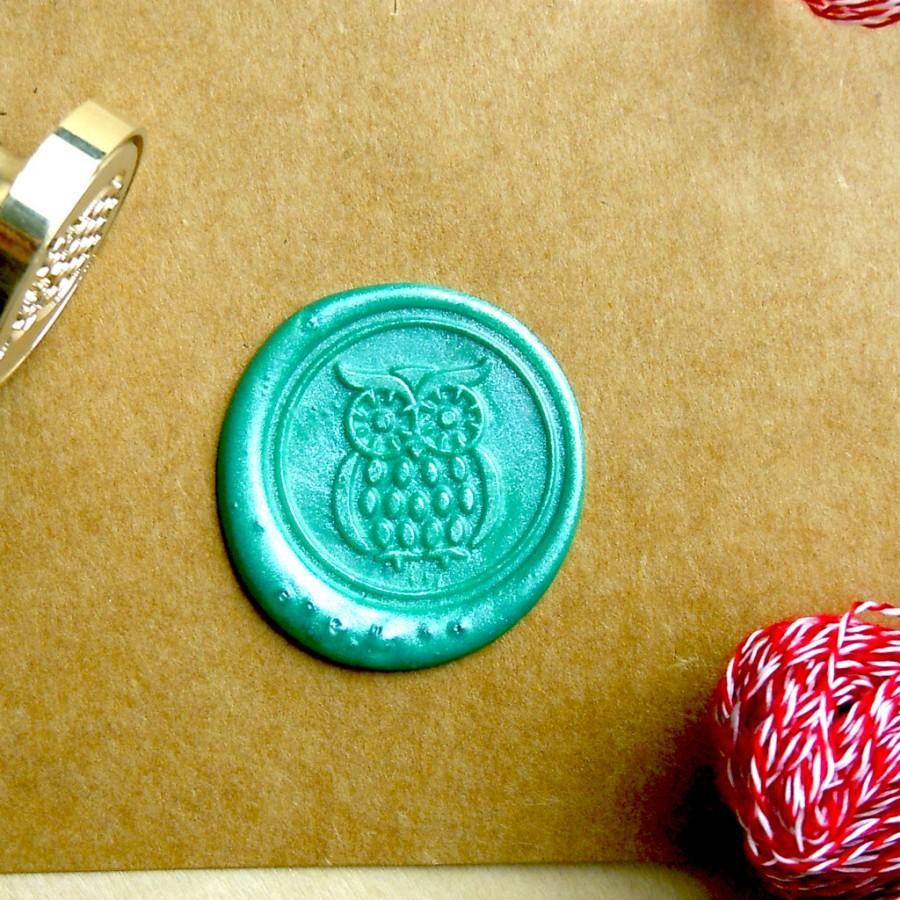 Свадьба - Owl Wax Seal Stamp Custom Order