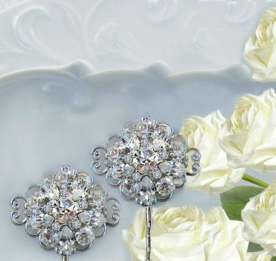 Mariage - Wedding Hair Pins, Bridal Hair clips, Crystal bobby pins, Bridal hair combs, Crystal Hair Pins, Bridal accessories, Wedding Hair Accessory