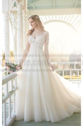 Wedding - Martina Liana Wedding Dress With Illusion Lace Sleeves And Organza Skirt Style 840