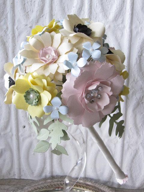 Свадьба - Pastel Paper Flower Bouquet