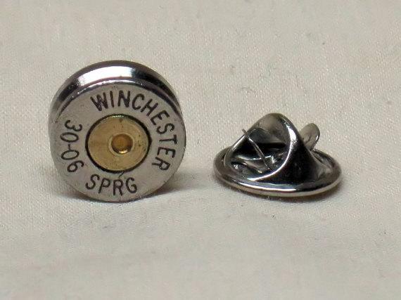 Mariage - Bullet Tie Tack Pin 30-06 Nickel Hat Pin Lapel Pin