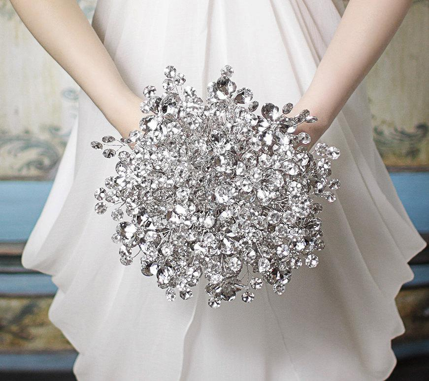 Свадьба - Wedding Bouquet - The Duo Mirrored Bridal Bouquet with Mirrored Wedding Flowers for Weddings - Wedding Flowers