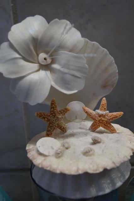 Wedding Cake Top Seashell Topper Starfish Decor Seashells