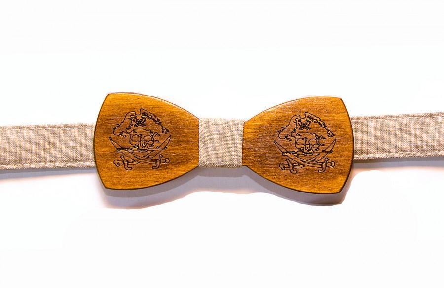 Свадьба - Pirate bowtie Pirate bow tie Pirate tie Wooden bowtie Handmade bowtie Suit Wooden bowtie Man gift Boyfriend gift Wedding bowtie Women bowtie