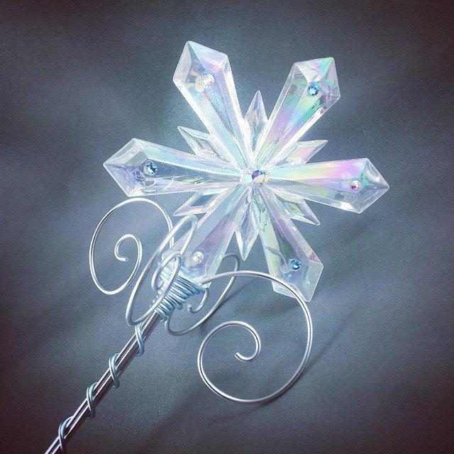 Mariage - Crystal Ice Queen Sceptre - Frozen Costume Elsa Snow Queen Wand - Made to Order