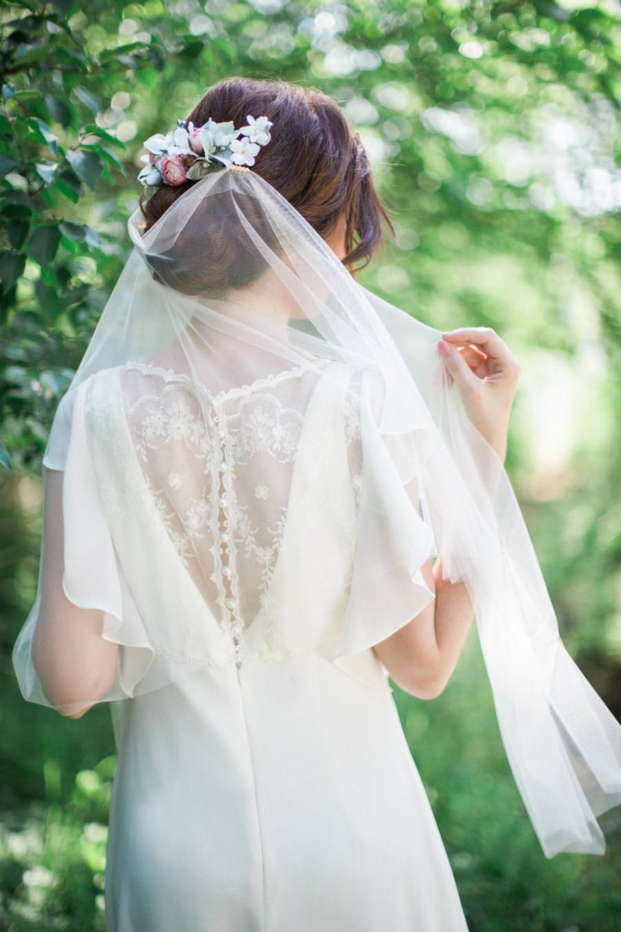 Draped Veil Boho Veil Bohemian Wedding Veil Boho Bridal Headpiece Tulle Veil Soft Tulle Veil Wedding Veil Ivory Bridal Veil Colors 2621044 Weddbook