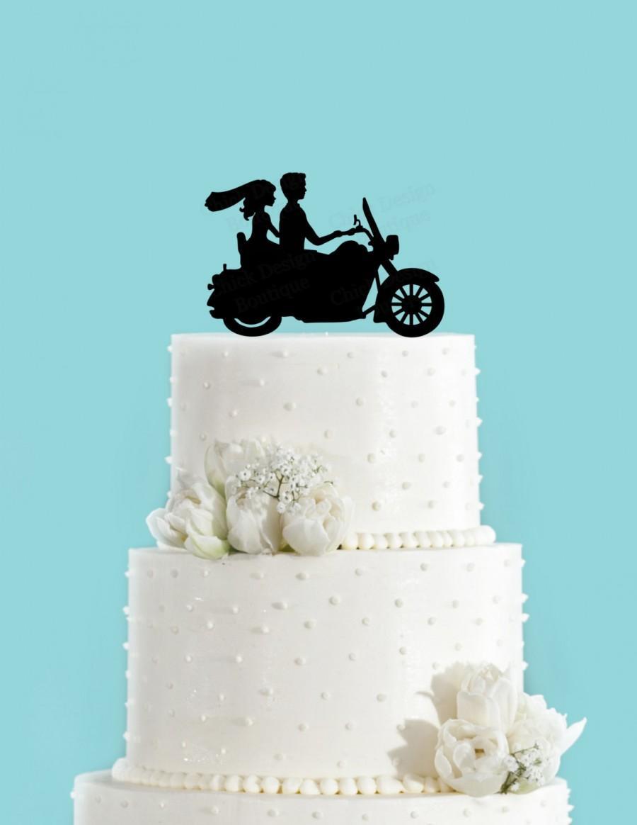 Mariage - Motorcycle Bike Wedding Cake Topper