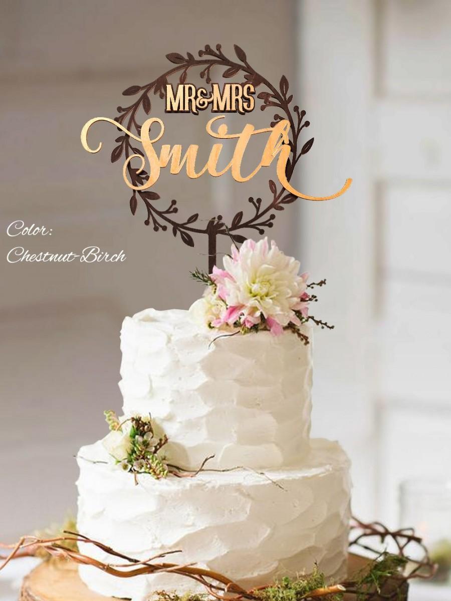 Mariage - Rustic Wedding Cake Topper. Rustic wedding decor. Rustic cake topper. Wedding cake topper rustic. Cake topper rustic.