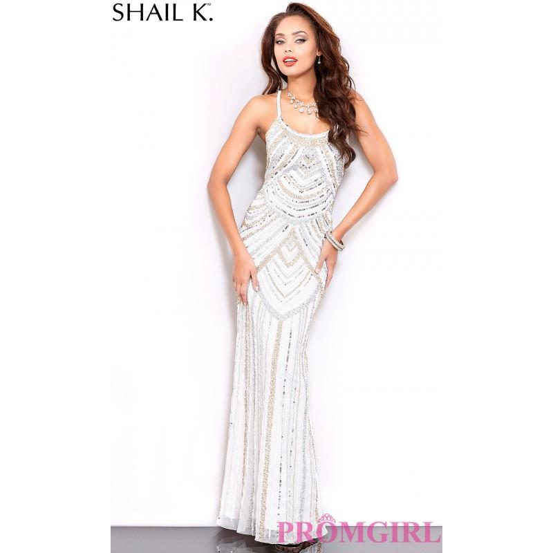 Свадьба - Blue Sequin Illusion Sweetheart Prom Dress by Shail K - Discount Evening Dresses