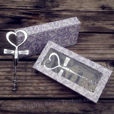 Wedding - Beter Gifts® 婚禮小禮品WJ002心形紅酒開瓶器 婚慶用品個性創意伴手禮轟趴派對