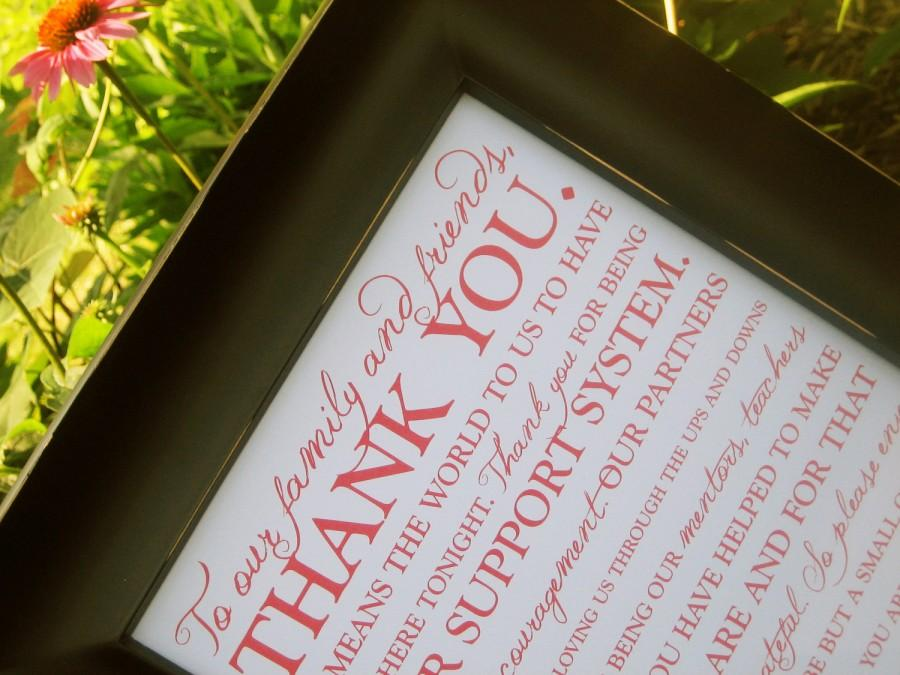 Свадьба - Wedding Thank You Sign 8x10 - Printable - Style S18 - OCTAVIA  COLLECTION