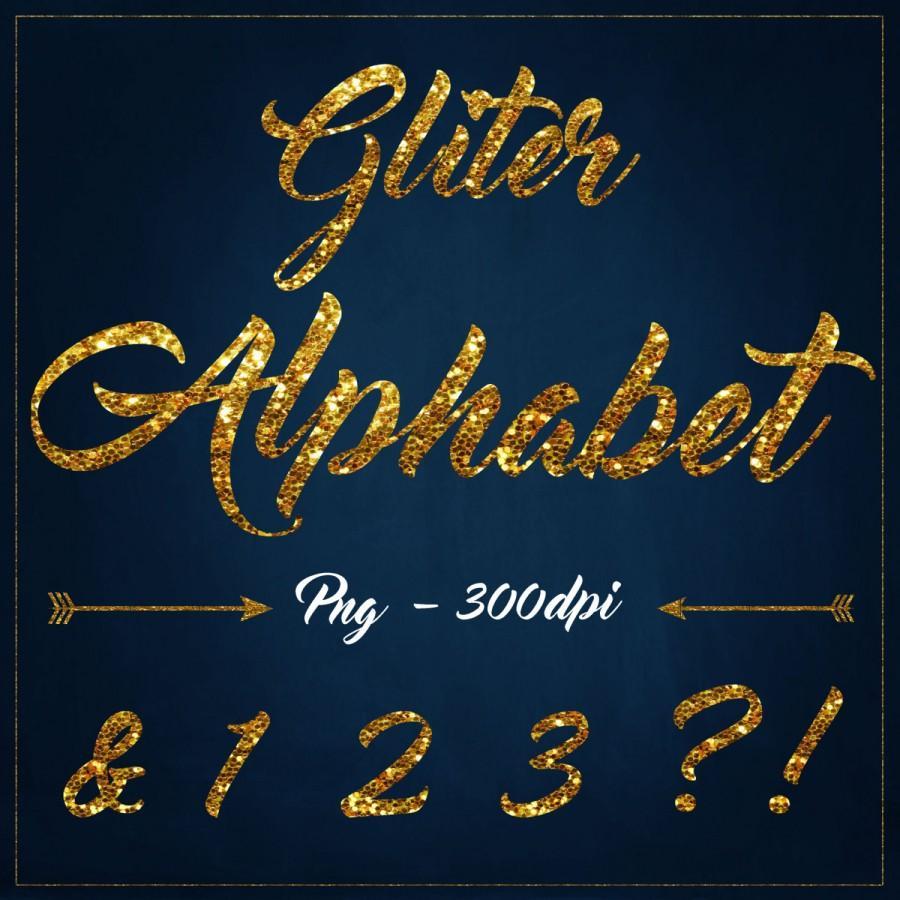 Свадьба - Gold Glitter alphabet clipart Digita glitter Clipart Gold Gliter overlays gold glitter letters clipart Gold Sparkle Font scrapbook alphabet