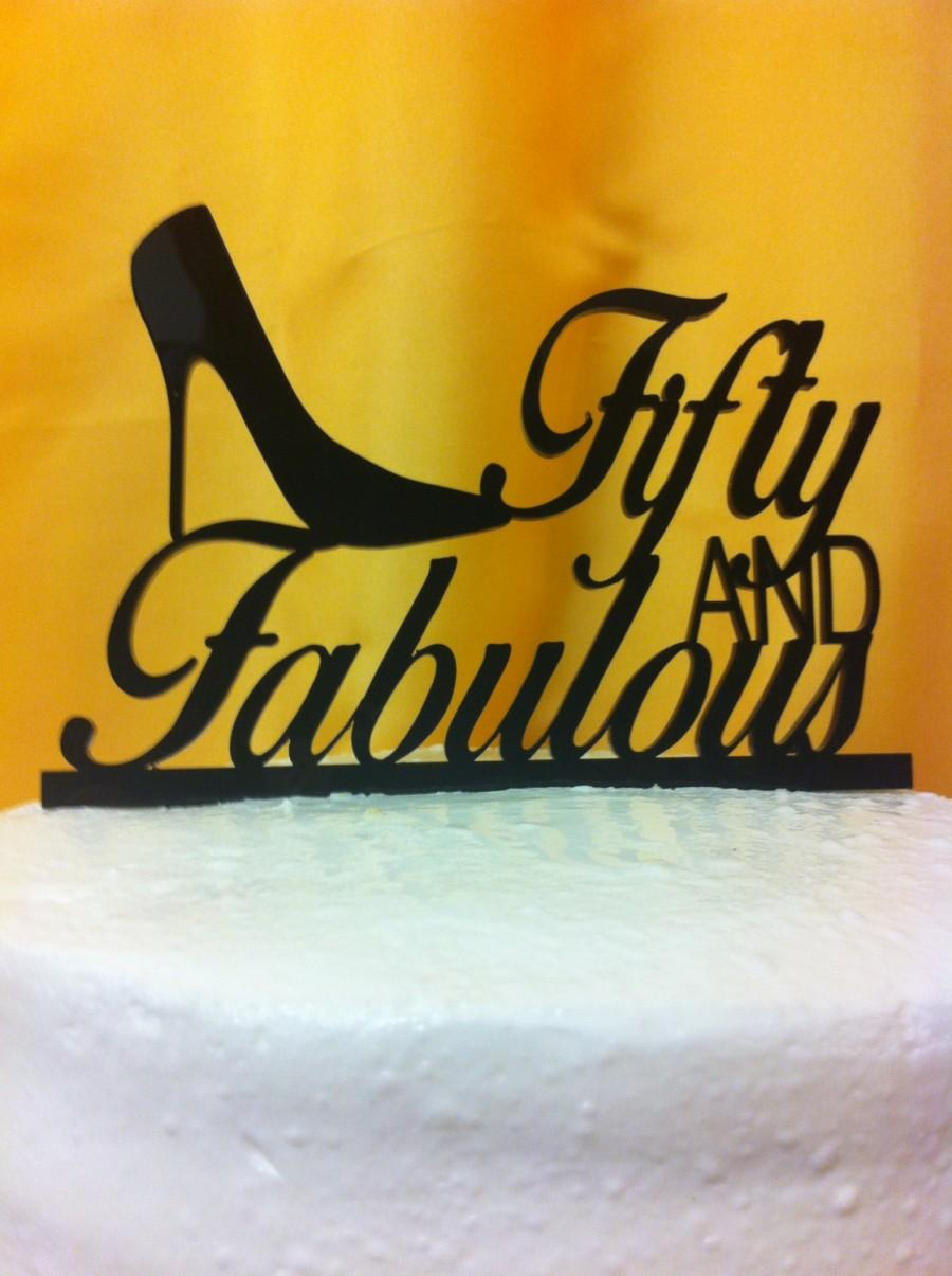 Mariage - High Heel Fabulous Silhouette Birthday Cake Topper MADE In USA…..Ships from USA
