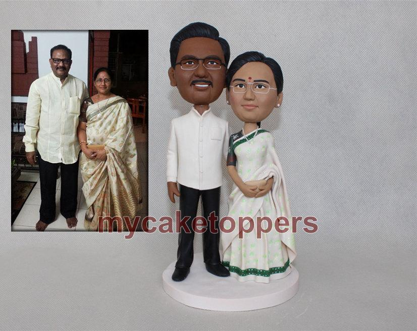 Mariage - wedding cake toppers bride and groom anniversary