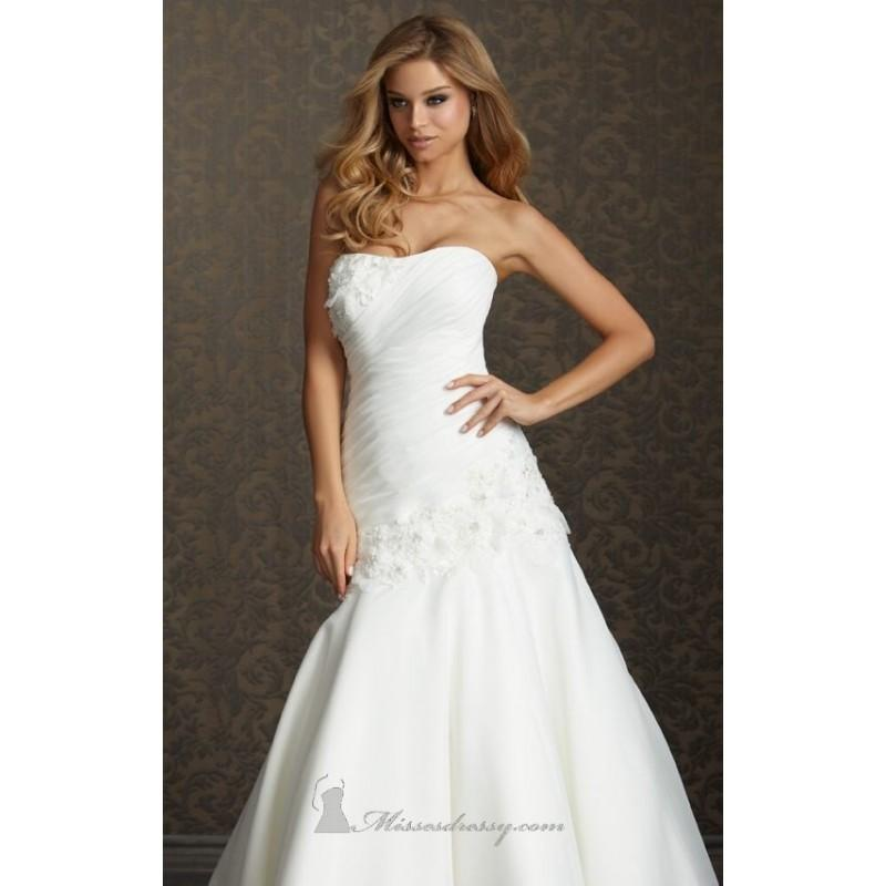 organza gown by allure bridals romance 2509 dress cheap