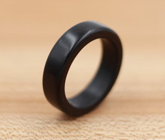 Mariage - Ebony Wood Ring - Custom Wood Ring - Unique Wedding Ring - Natural Jewelry - Wedding Ring - Wooden Ring - Mens Jewelry - 5 Year Anniversary