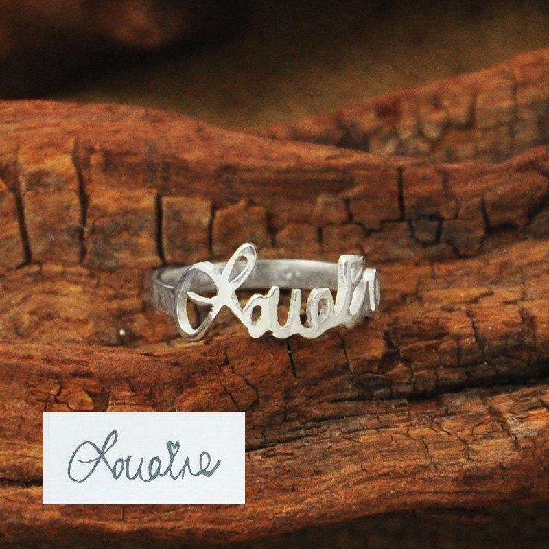 Mariage - Personalized Handwriting Ring, Memorial Ring,  Signature Ring, Handwriting Ring, Custom Handwriting Ring, name ring