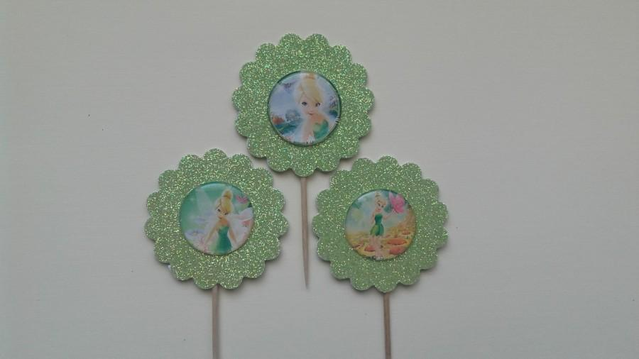 Свадьба - Tinkerbell Cupcake Toppers, Tinkerbell Fairy Cupcake Toppers, Tink Cupcake Toppers, Fairy  Cupcake Toppers, Fairy, Tinkerbell Theme Party