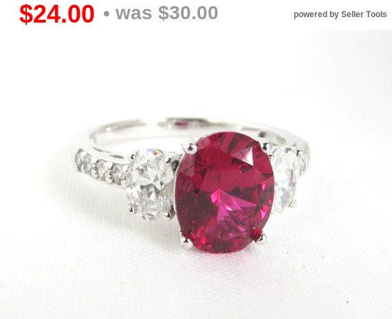 Mariage - 20% OFF! Vintage Pink Topaz Sterling Silver Ring, Topaz & CZs, Engagement Ring, Bridal Jewelry, Size 9