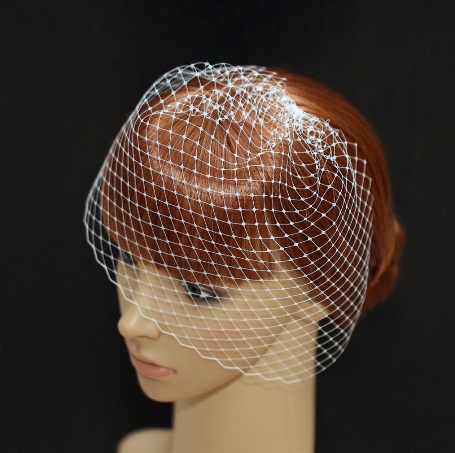 زفاف - Bridal Wedge Veil- Mini Birdcage Veil- Wedding Veil- White Off-white Champagne Veil- Hats Netting