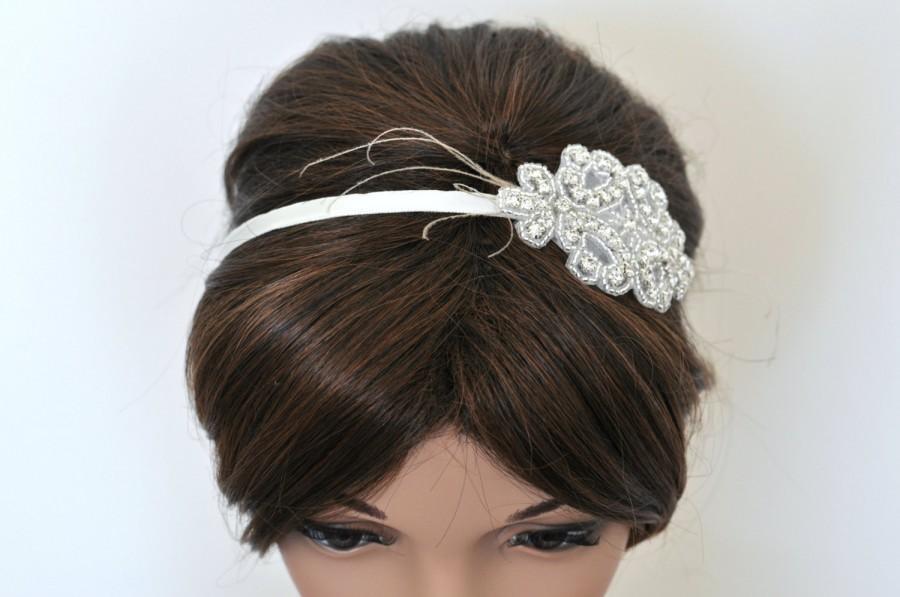 Wedding - Wedding headpiece, headband, PAMELLA, Rhinestone Headband, Wedding Headband, Bridal Headband, Bridal Headpiece, Rhinestone