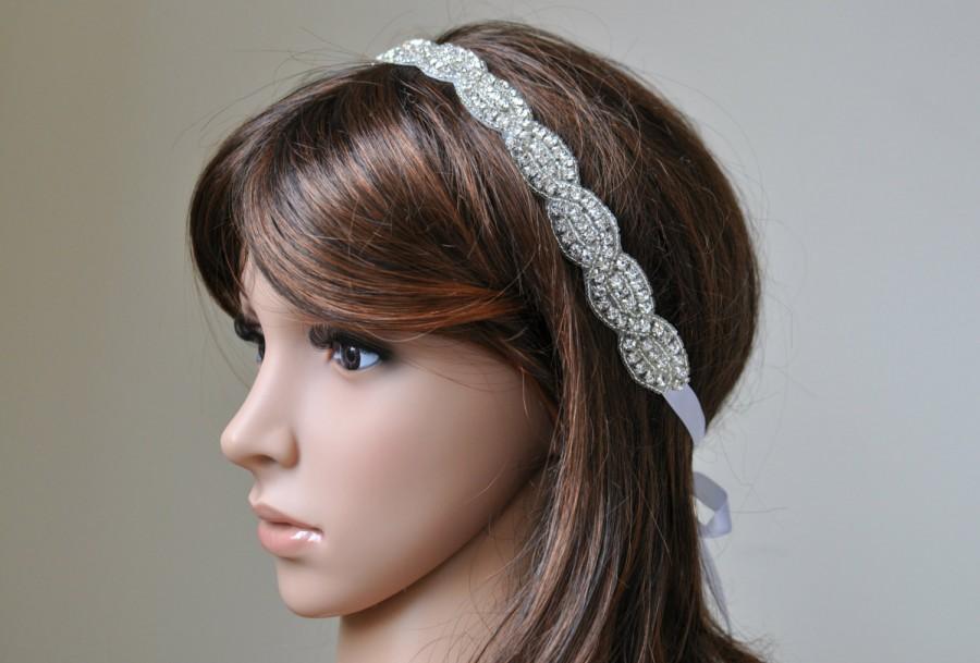 زفاف - Wedding headpiece, headband, EMMA, Rhinestone Headband, Wedding Headband, Bridal Headband, Bridal Headpiece, Rhinestone