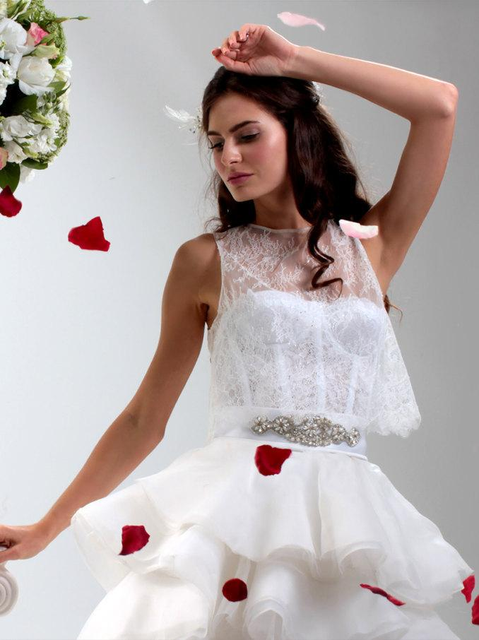 Свадьба - WEDDING TOP, Sleeveless Lace Bridal Top, Sleeveless wedding shell, Sleeveless bridal tank