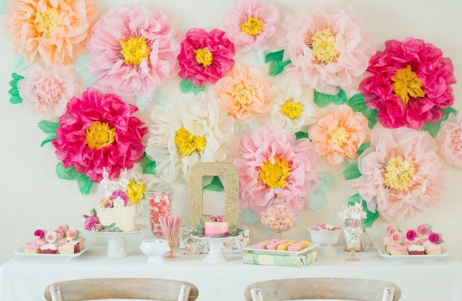 Mariage - Tissue Paper flowers for Flower Wall
