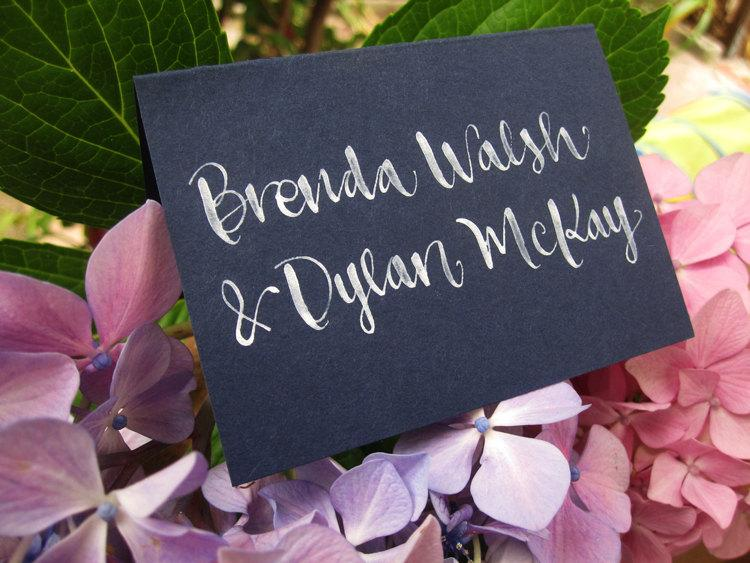 Mariage - Wedding Calligraphy for Place Cards, Escort Cards