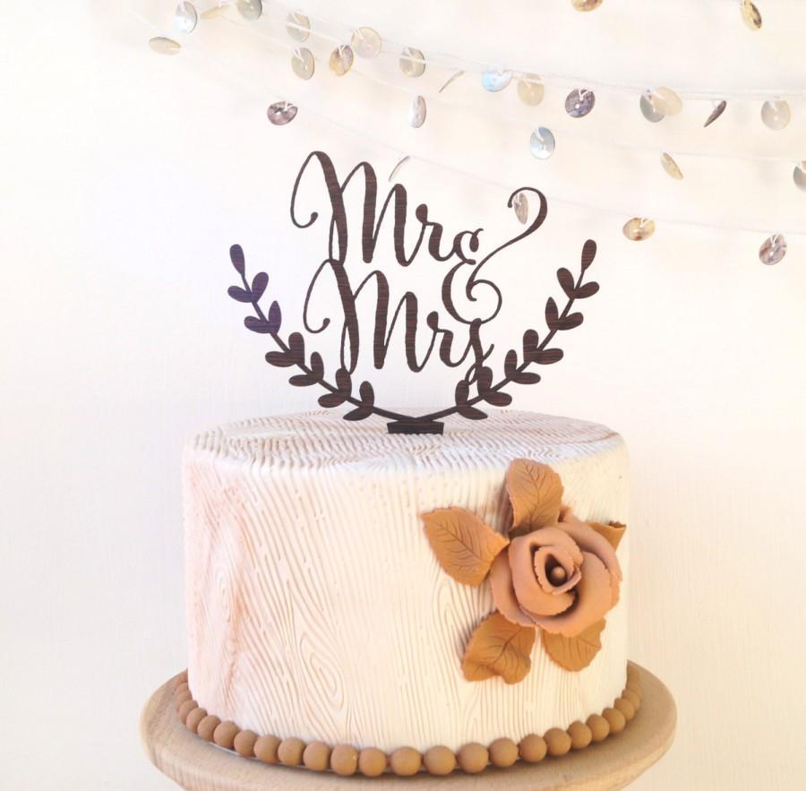 Wedding - Wedding cake topper, Mr & Mrs cake topper, rustic cake topper, wooden cak topper, your wood choice