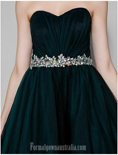 cc38927fa47 Australia Cocktail Party Dress Dark Green Plus Sizes Dresses Petite A-line  Sweetheart Short Knee-length Tulle Formal Dress Australia -  Formalgownaustralia. ...