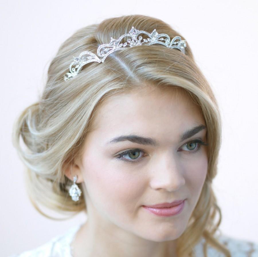 Wedding - Rhinestone Wedding Tiara, Princess Tiara, Rhinestone Bridal Crown, Princess Crown, Vintage Wedding Headpiece, Rhinestone Tiara ~TI-179