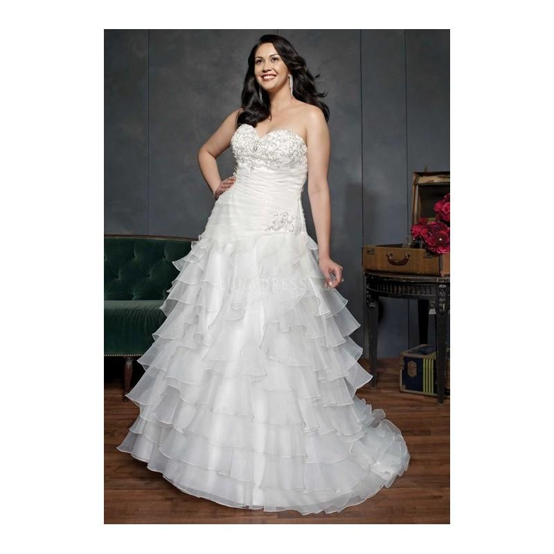 Mariage - Brilliant Sweetheart A line Organza Floor Length Sleeveless Wedding Dress - Compelling Wedding Dresses