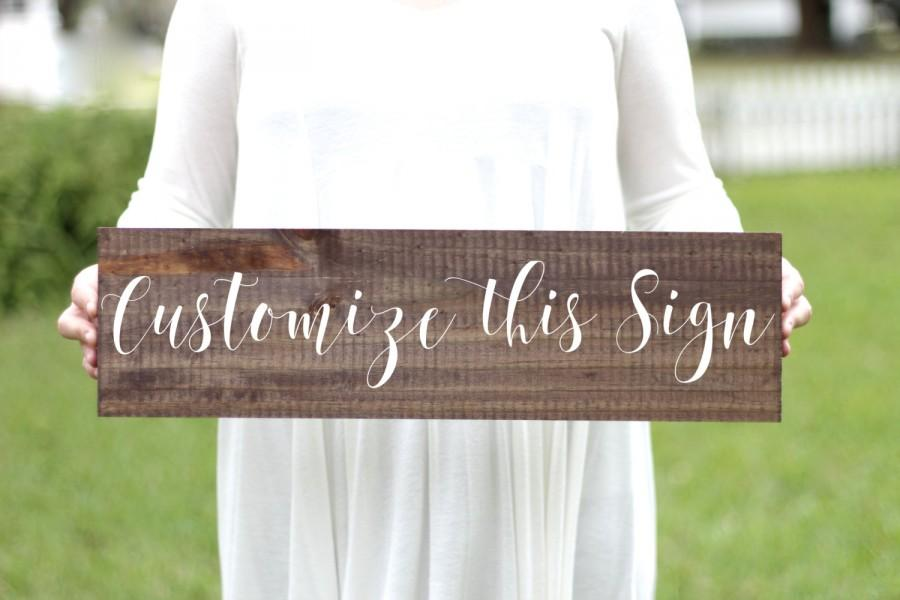 Свадьба - Custom Wooden Wedding Sign, Rustic Wedding Sign, Rustic Home Decor, Wall Art, Keepsake Gift, Personalized Sign