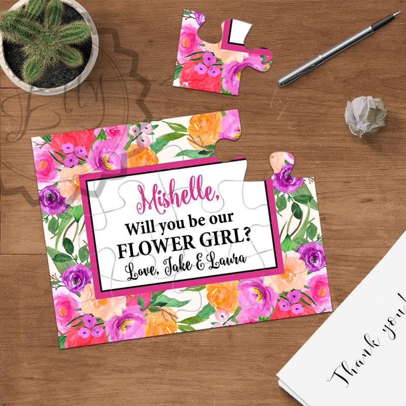 Flower Girl Proposal Puzzle