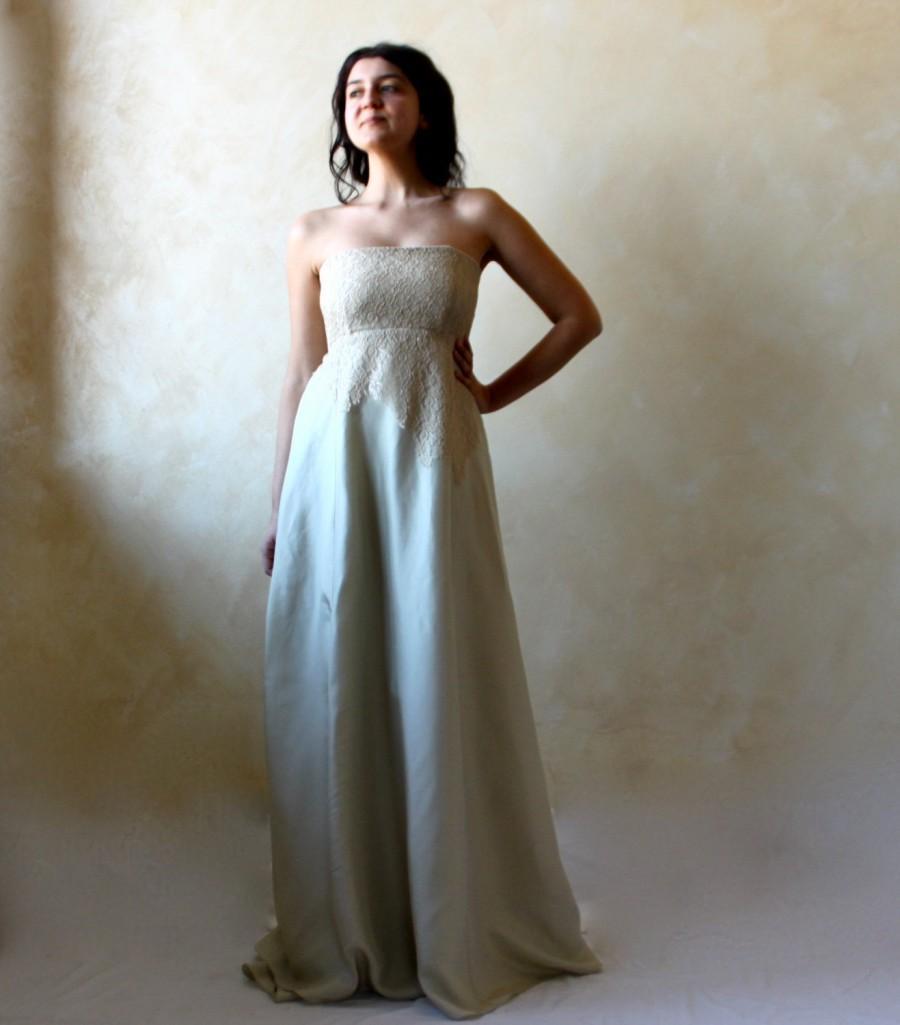 Свадьба - Alternative Wedding dress, Green wedding dress, Empire wedding dress, fairy wedding dress, woodland wedding dress, pagan wedding dress